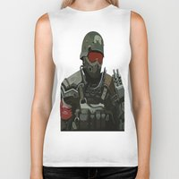 military Biker Tanks featuring Military Male Character by Jude Beavis