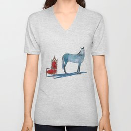 animals with chairs #1 The argument Unisex V-Neck