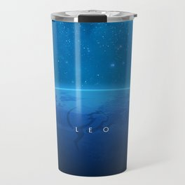 Leo: Astrological Art Travel Mug
