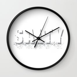 Salty Salty Funny Chef Chef Gift Wall Clock