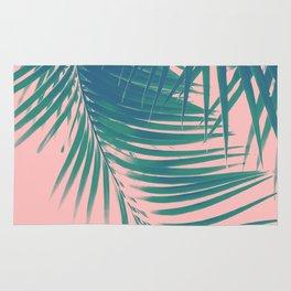 Palm Leaves Blush Summer Vibes #2 #tropical #decor #art #society6 Rug