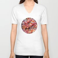 mineral V-neck T-shirts featuring Mineral planet-6: red quartz. by Gaspar Garijo