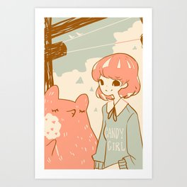 Candy Girl Art Print