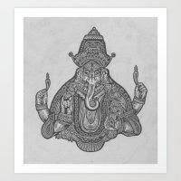 ganesh Art Prints featuring Ganesh by TRUJI