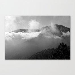 Cloudy Mountains Canvas Print