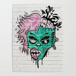 Zombie Graffiti Wall Poster