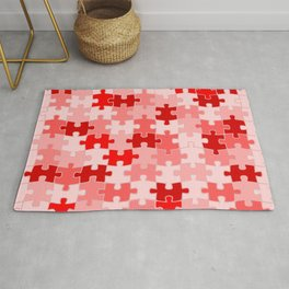 Pink Jigsaw Puzzle Rug