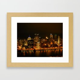 Pittsburgh Lights Framed Art Print