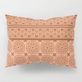 African Ethnic Tribal Ochre Pattern Pillow Sham
