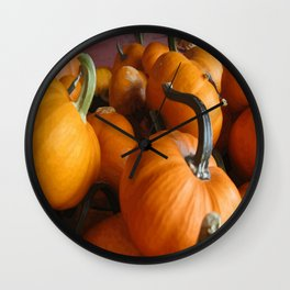 Vector Style Harvest Of Pumpkins Wall Clock