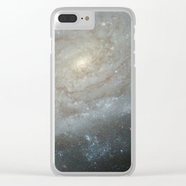 Spiral Galaxy, NGC 3370 Clear iPhone Case