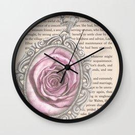 Silver & Rose Wall Clock