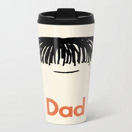 Dad Moustache Metal Travel Mug