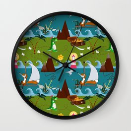Nautical kids dream Wall Clock