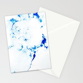 Blue Microcosmos Stationery Cards