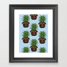 Pineapple Pug Framed Art Print