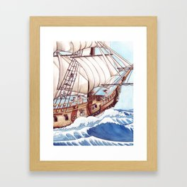 She Sails the High Seas Framed Art Print