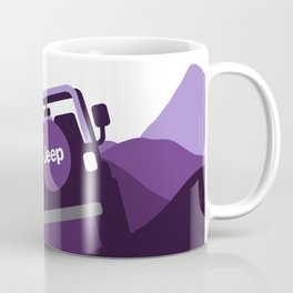 Jeep 'Driving' Purple Mountain Coffee Mug
