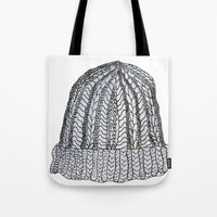 hat Tote Bags featuring Hat by Megan Leppla