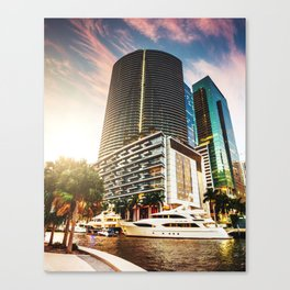 miami downtown Canvas Print