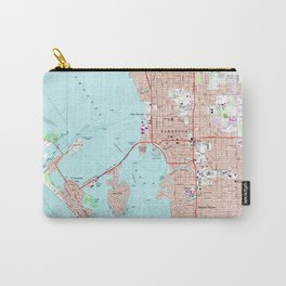 Vintage Map of Sarasota Florida (1973) Carry-All Pouch