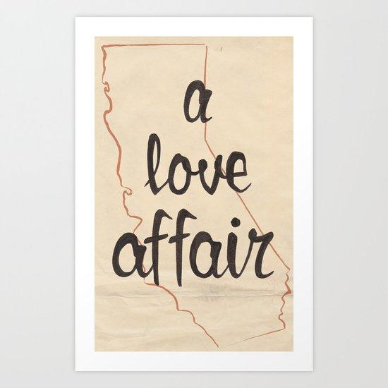 a love affair Art Print