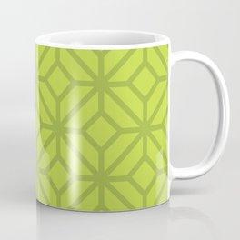 Lime Green Retro Tiles Coffee Mug