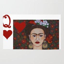 Frida Kahlo, reina de corazones II Rug