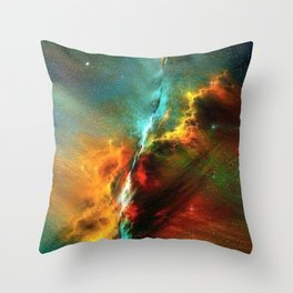 A univese of color Throw Pillow