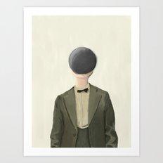 Black Ball Head - iPad Art Art Print