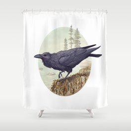 Raven of the North Atlantic Shower Curtain