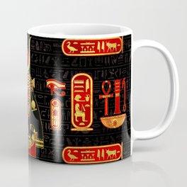 Hathor Egyptian Ornament Gold and Red glass Coffee Mug