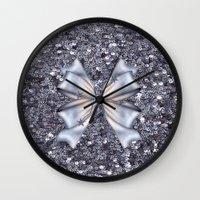 silver Wall Clocks featuring Silver by Elena Indolfi