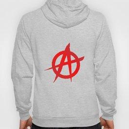 Red Anarchy Symbol Hoody
