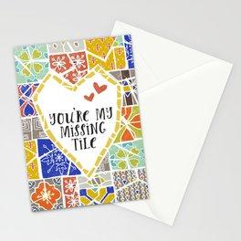 Barcelona tiles Stationery Cards