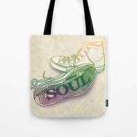 soul Tote Bags featuring Soul by Dianne Delahunty