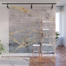 Watercolor Gradient Gold Foil IV Wall Mural