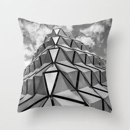 The Architectural Cladding from Leeds University Car Park Throw Pillow