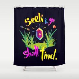 Legend of Zelda Seek and Ye Shall Find Shower Curtain