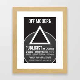 OM02: Off Modern Framed Art Print