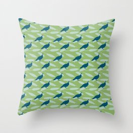 Californian Quail and home-grown sage Throw Pillow