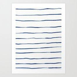 Blue Stripes Art Print