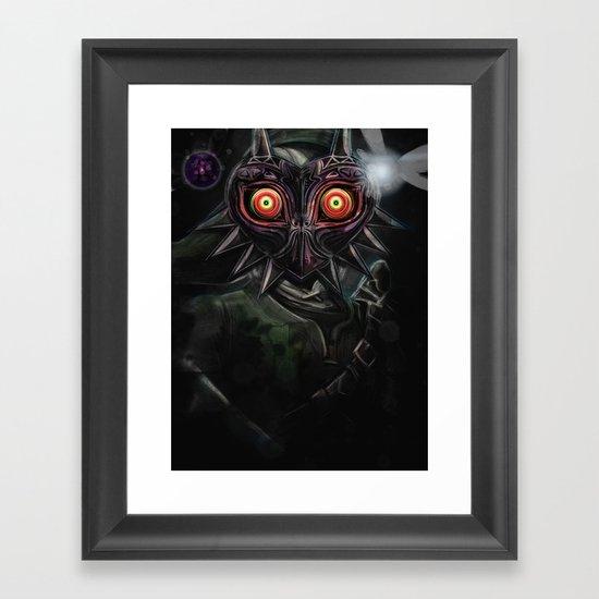 Legend of Zelda Majora's Mask Link Framed Art Print
