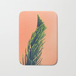 Complementary Colors Green Salmon Pink Against Background Bath Mat