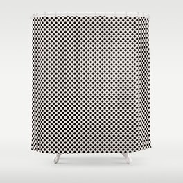 Bridal Blush and Black Polka Dots Shower Curtain