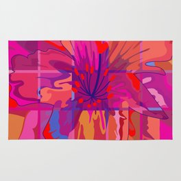 Abstract Flower in Cubes Rug