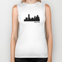 houston Biker Tanks featuring Houston, Texas by Fabian Bross