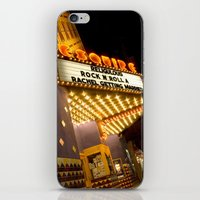 cinema iPhone & iPod Skins featuring Sidewalk Cinema by Stacey Cat