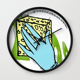 2020 disinfected  Wall Clock