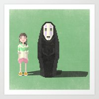 spirited away Art Prints featuring spirited away by pixel.pwn | AK